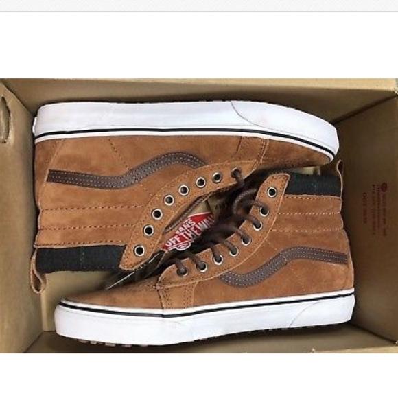 8d878da236 Vans Sk8 Hi MTE Sneakers Glazed Ginger Plaid Shoes